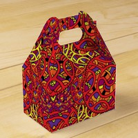 Colorful Organic Pattern Favor Box