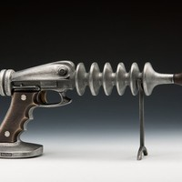Ray Gun Cast Aluminum and Bronze with Spring Trigger for by Nelles