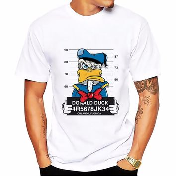 anime t-shirt MEN TOPS short sleeve casual funny cartoon dog mouse duck tshirt homme comfort plus size t shirt