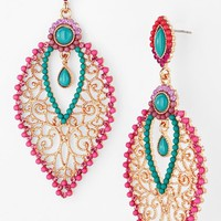 Cara Couture Beaded Chandelier Earrings