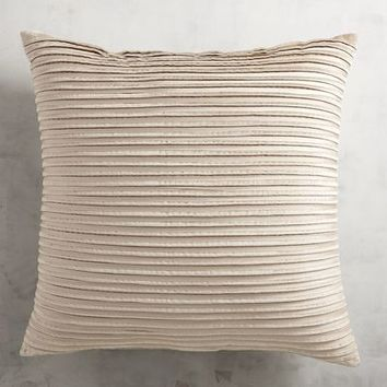 Pleated Velvet Oatmeal Pillow