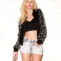 Sequined Star Zip Up Jacket | FOREVER 21 - 2072452641