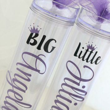 Big and Little Tumblers - Big Little Sorority - Big Little Glasses - Sorority Gifts - Greek Gifts - Big Little Tumbler - Big Little Reveal