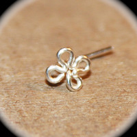 Flower Nose Stud,  Flower Tragus, cartilage Stud, Daith, Nose Ring, triangle  Nose Ring, Open triangle, Nose Ring