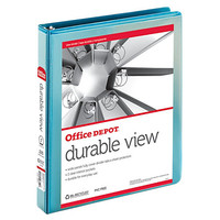 """Office Depot® Brand Nonstick Round-Ring View Binder, 1"""" Rings, 30% Recycled, Jeweler Blue Item # 208396"""