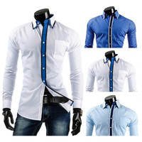Trim Design Slim Fit Shirt