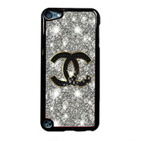 Coco Chanel Glitter Painting FOR IPOD TOUCH 5 CASE *RA*