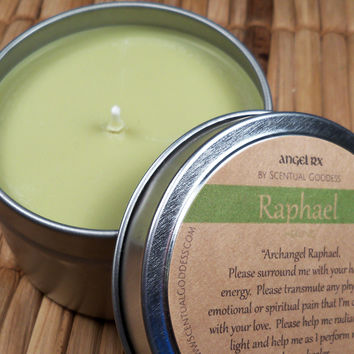 Archangel Raphael Candle - Call Upon Raphael for Physical Emotional or Spiritual Angel Healing