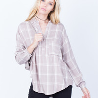 Your Everyday Plaid Blouse