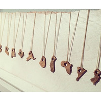 Bronze State Necklaces - States of Love