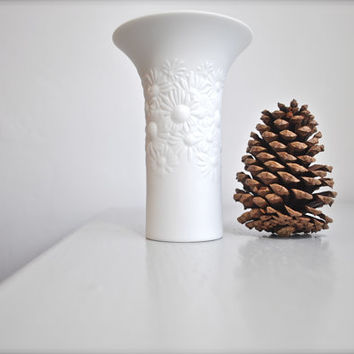 70's West German White Porcelain Vase by Rosemunde Nairac for Rosenthal