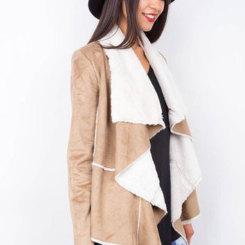 Caress Vegan Suede Fur Jacket