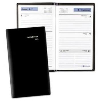 DayMinder® Weekly Pocket Planner, 3 1/2 x 6 3/16, Black, 2016