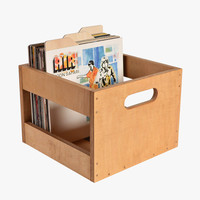 Golden Oak Record Crate
