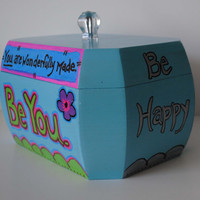 Up-Cycled Vintage Purse Box - Cool Message Box for Tweens and Teens!