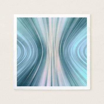 Aqua Turquoise Teal Driving Dreams Paper Napkins