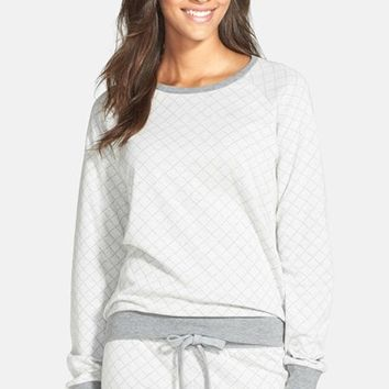 Women's PJ Salvage 'Home' Quilted Knit Top