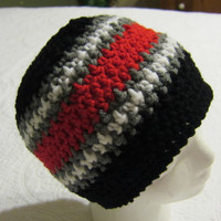 Crochet Sports NFL Inspired Beanie Atlanta Falcons in Adult Sizes !!!For The Next Month All Sports Hats Are On Sale For 12.00 Yeah!!!