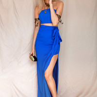 Buy Cerulean Split Maxi Online by SABO SKIRT