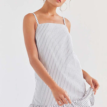 Kimchi Blue Striped Ruffle-Hem Mini Dress | Urban Outfitters