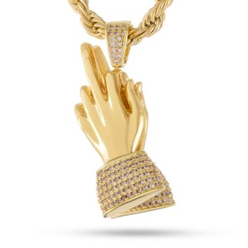 The Middle Finger Praying Hands Necklace