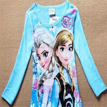 Elsa & Anna Girls T Shirt