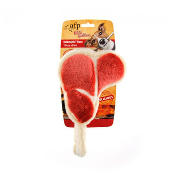 All for Paws Dog Toy BBQ Grillers Delectable T-Bone
