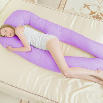Drop shipping Big U Shaped Body Pillows Pregnancy Pillow For Side Sleeper Removable Cover 152* 72*22cm