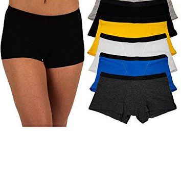 Sexy Basics Womens 6 amp 12 Pack Modern Active Boy Short Boxer Brief Panties