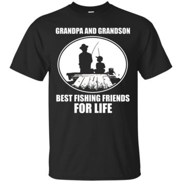 Grandpa and Grandson T-Shirt Best Fishing Friends For Life