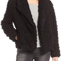 MOON RIVER Faux Fur Moto Jacket | Nordstrom