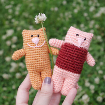 Crochet Cat Kitten amigurumi Cat toy, stuffed toy, plush Cat Kitten toy, stuffed animal, crochet amigurumi plushie вязаный кот