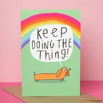 Keep Doing the Thing Funny Happy Graduation Congratulations Greeting Card FREE SHIPPING
