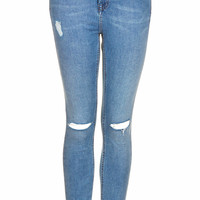 MOTO RIPPED STONE WASH JAMIE JEANS