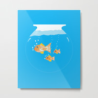 Goldfish III Metal Print by ecreativeartdesign