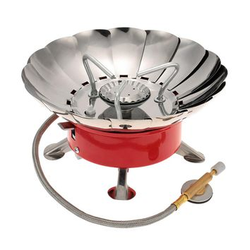 Portable Retracted Windproof Backpacking Gas Stove