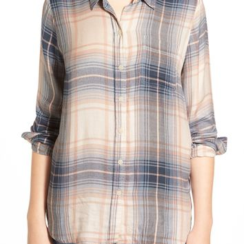 Lucky Brand 'Bungalow' Plaid Lightweight Flannel Shirt | Nordstrom