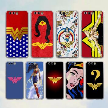Wonder Woman Costume Colors style transparent clear Case for huawei P10 P9 Lite P10 Plus P8 Ascend G7 G8 Mate 9 S 8