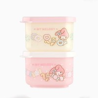 My Melody 2 Piece Snack Case Set: Sweets