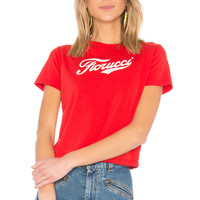FIORUCCI Soda Logo Cropped Tee in Red