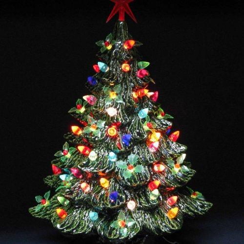 Ceramic Christmas Trees With Lights