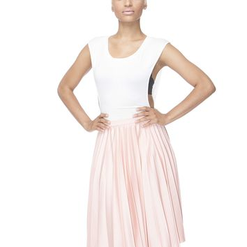 MARILYN PLEATED MIDI SKIRT