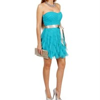 OceanChampagne Cascade Prom Dress