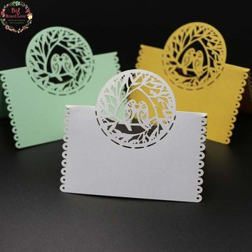 40pcs Love Bird Laser Cut Wedding Party Table Name Place Card