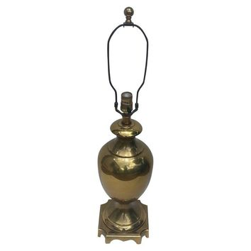 Pre-owned Ethan Allen Brass Urn Table Lamp