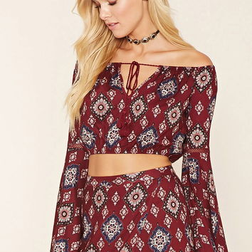 Off-The-Shoulder Ornate Top