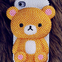 Popular Lovely Diamond Bear iPhone 5 Case, iphone 4 case, iphone 4s case, Apple iPhone case, iphone 5 case
