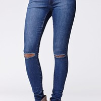 Cheap Monday Prime Slit Knee Skinny Jeans - Womens Jeans - Blue