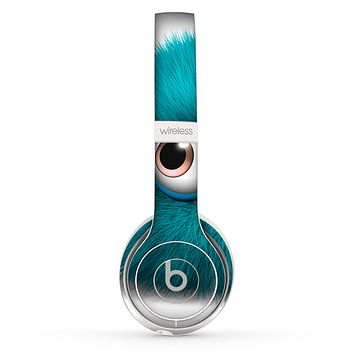 The Teal Fuzzy Wuzzy Skin Set for the Beats by Dre Solo 2 Wireless Headphones
