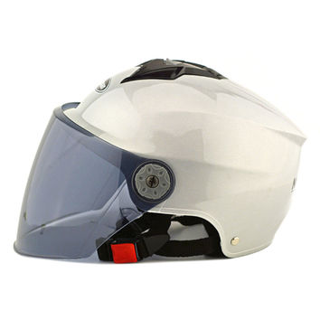 Motorcycle Motor Bike Scooter Safety Helmet 318   silver